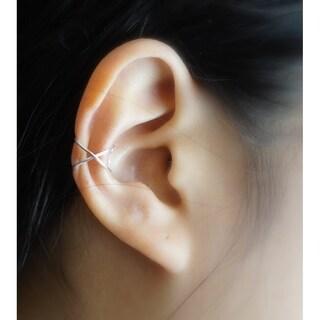 Sterling Silver No Piercing Criss Cross Ear Cuff