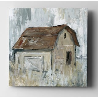 Barn At Dusk - Premium Gallery Wrapped Canvas