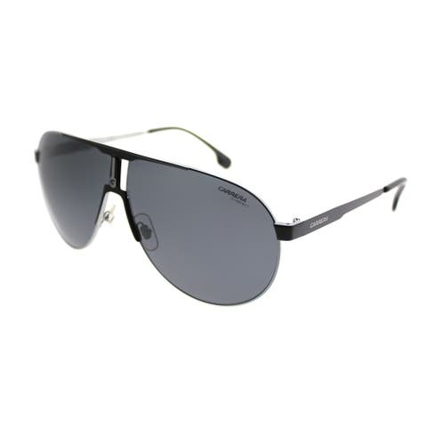 Carrera Aviator Carrera 1005/S TI7 Unisex Ruthenium Matte Black Frame Grey Lens Sunglasses
