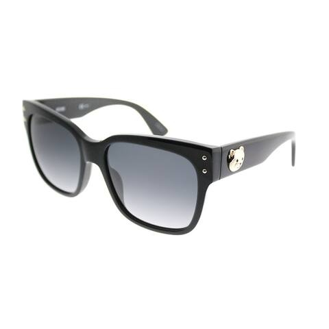 Moschino Square 008/S 807 9O Unisex Black Frame Grey Gradient Lens Sunglasses
