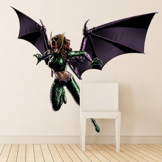 "Superhero Bat Woman Full Color Wall Decal Sticker K-660 FRST Size 33""x40"""