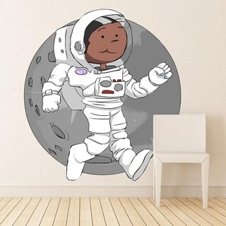 """Spaceman Space Cartoon Full Color Wall Decal Sticker K-669 FRST Size 40""""x40"""""""