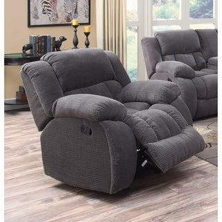 Cozy and Warm Glider Recliner Chair, Gray