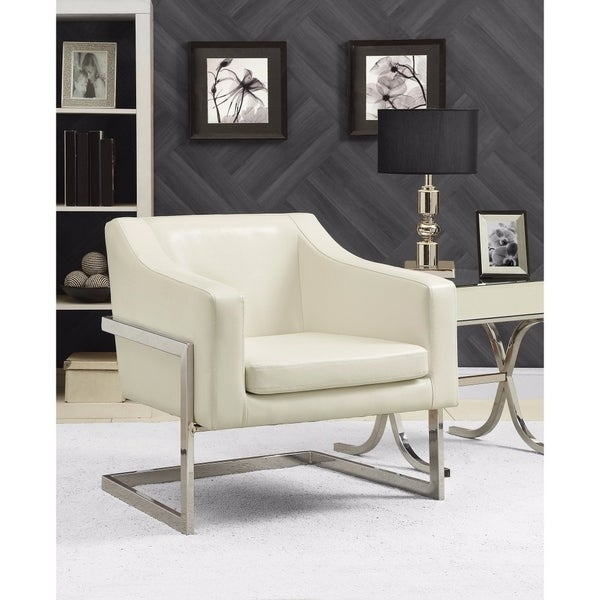 Utterly Elegant Accent Chair, White