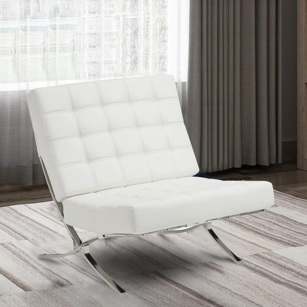 Enjoyable Shop Metal Accent Chair With Leatherette Cushion Seating Andrewgaddart Wooden Chair Designs For Living Room Andrewgaddartcom