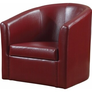 Slickly Compact Accent Chair, Red