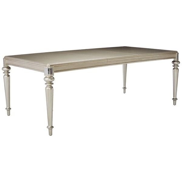 Shop Rectangular Bling Wooden Dining Table, Metallic