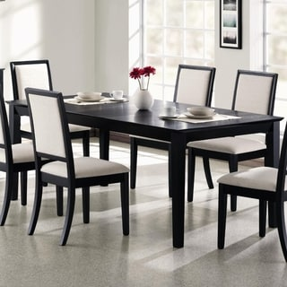 Rectangular Wooden Dining Table, Black