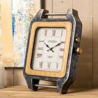 """Corbis 11.5"""" x 15.5"""" Metal Table Clock"""