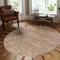 LR Home Dazzle Criss-Crossed Autumn Indoor Area Rug - 6' x 6'