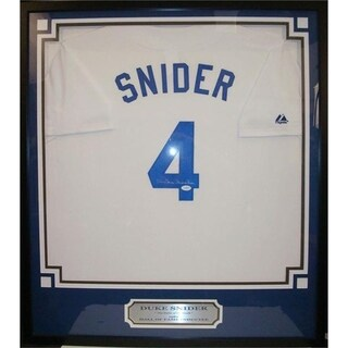 30x34 Framed Autographed Custom Jersey - Duke Snider Los Angeles Dodgers