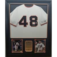 44x36 Framed Autographed Custom Jersey - Pablo Sandoval San Francisco Giants