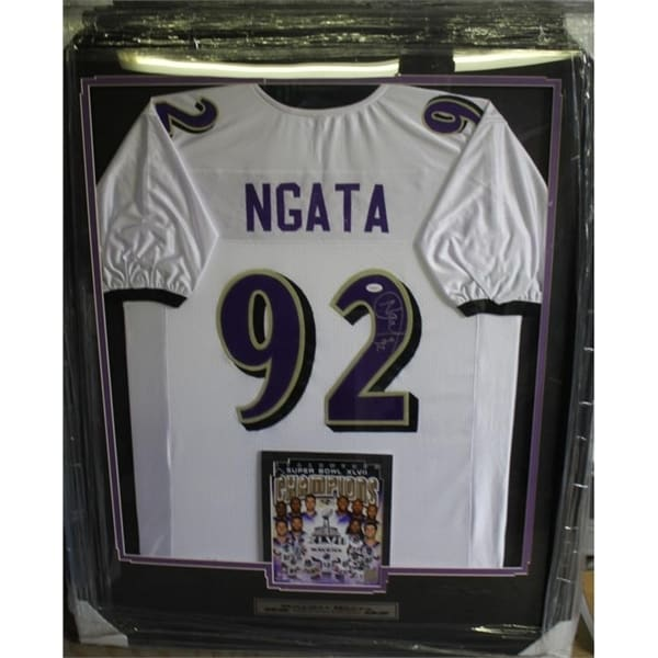 176e1444c Shop 44x36 Framed Autographed Custom Jersey - Haloti Ngata Baltimore Ravens  - On Sale - Free Shipping Today - Overstock - 20977108