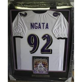 44x36 Framed Autographed Custom Jersey - Haloti Ngata Baltimore Ravens
