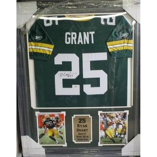 44x36 Framed Autographed Custom Jersey - Ryan Grant Green Bay Packers