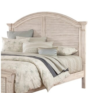 Carlyle Crackled White Arched Panel Headboard by Greyson Living