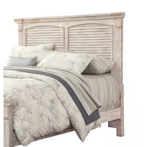 Carlyle Crackled White Panel Headboard by Greyson Living