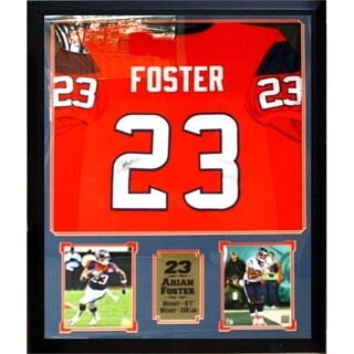 44x36 Framed Autographed Custom Jersey - Arian Foster Houston Texans
