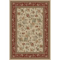 "Concord Global Ankara Botanical Ivory Rug - 6'7"" x 9'6"""