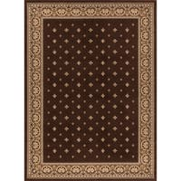 "Concord Global Ankara Dapper Brown Rug - 6'7"" x 9'6"""
