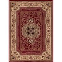 "Concord Global Ankara Manor Red Rug - 6'7"" x 9'6"""