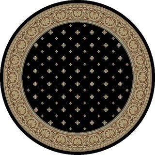 "Concord Global Ankara Dapper Black Round Rug - 5'3"" x 5'3"" Round"