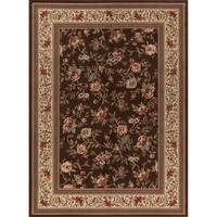 "Concord Global Ankara Botanical Brown Rug - 6'7"" x 9'6"""
