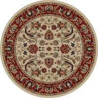 "Concord Global Ankara Royals Ivory Round Rug - 5'3"" x 5'3"""