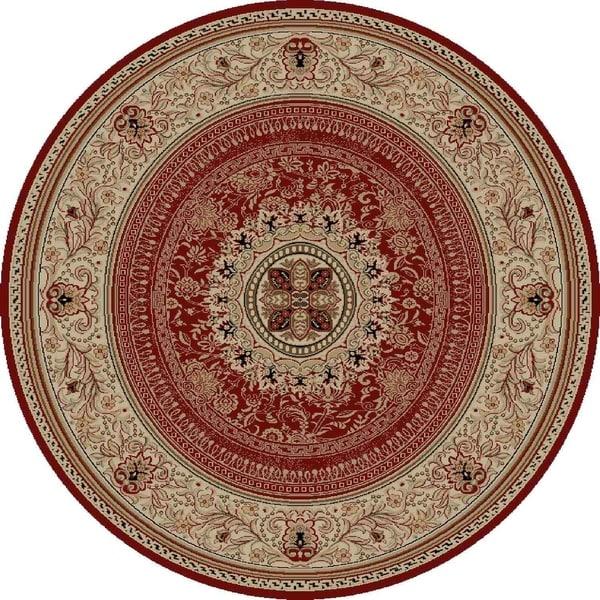 "Concord Global Ankara Manor Red Rug - 5'3"" x 5'3"""