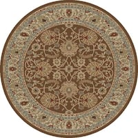 "Concord Global Ankara Palace Brown Round Rug - 5'3"" x 5'3"""