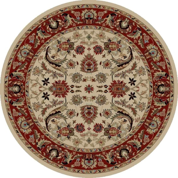 "Concord Global Ankara Royals Ivory Rug - 7'10"" x 7'10"""
