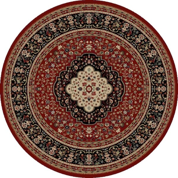 "Concord Global Ankara Katrina Red Rug - 5'3"" x 5'3"""