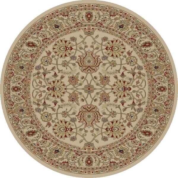 "Concord Global Ankara Palace Ivory Round Rug - 7'10"" x 7'10"""