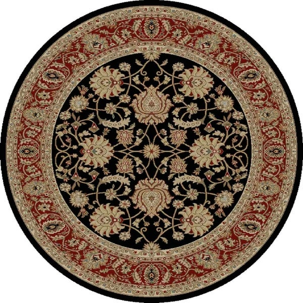 "Concord Global Ankara Palace Black Rug - 7'10"" x 7'10"""