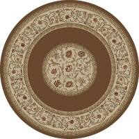 "Concord Global Ankara Serene Brown Round Rug - 5'3"" x 5'3"""