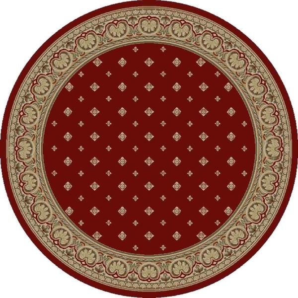 "Concord Global Ankara Dapper Red Round Rug - 7'10"" x 7'10"""