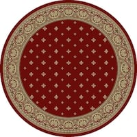"Concord Global Ankara Dapper Red Rug - 7'10"" x 7'10"""
