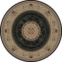 "Concord Global Ankara Manor Black Rug - 7'10"" x 7'10"""