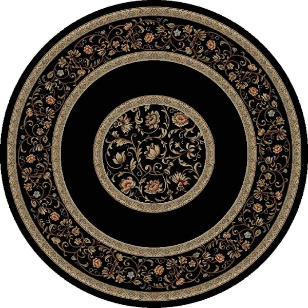 "Concord Global Ankara Serene Black Rug - 7'10"" x 7'10"""