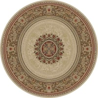 "Concord Global Ankara Manor Ivory Rug - 7'10"" x 7'10"""