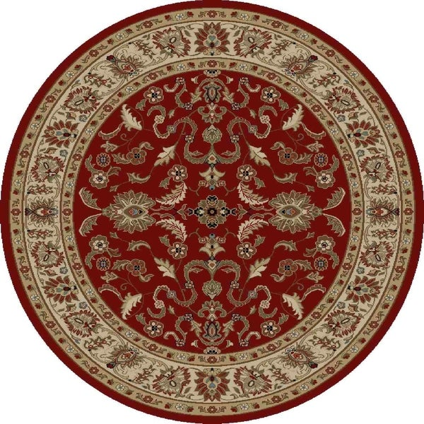 "Concord Global Ankara Mogul Red Round Rug - 7'10"" x 7'10"""