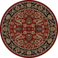 "Concord Global Ankara Royals Red Round Rug - 7'10"" x 7'10"""