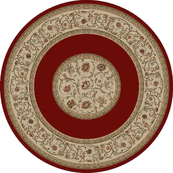 """Concord Global Ankara Serene Red Rug - 7'10"""" x 7'10"""""""