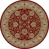 "Concord Global Ankara Palace Red Round Rug - 5'3"" x 5'3"""