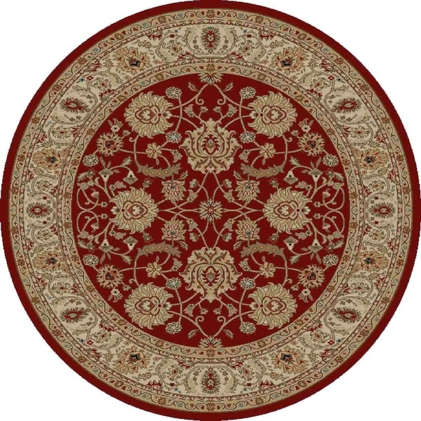 "Concord Global Ankara Palace Red Rug - 7'10"" x 7'10"""