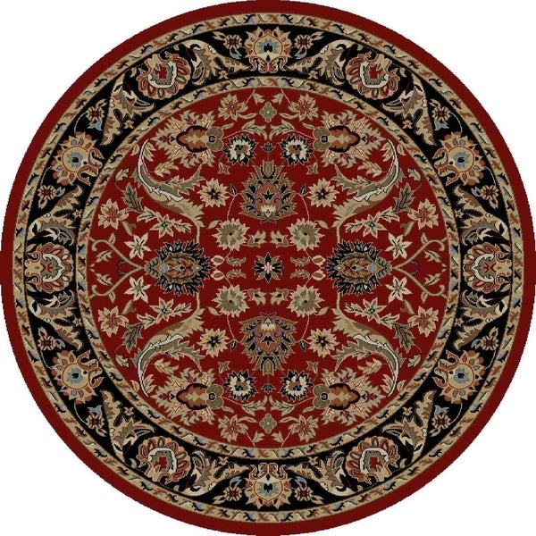 "Concord Global Ankara Royals Red Rug - 5'3"" x 5'3"""