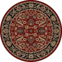 "Concord Global Ankara Royals Red Round Rug - 5'3"" x 5'3"""