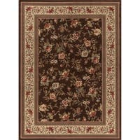 Concord Global Ankara Botanical Brown Rug - 5'3 x 7'3
