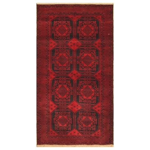 Handmade One-of-a-Kind Balouchi Wool Rug (Afghanistan) - 3'3 x 6'