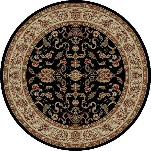 "Concord Global Ankara Mogul Black Round Rug - 5'3"" x 5'3"""
